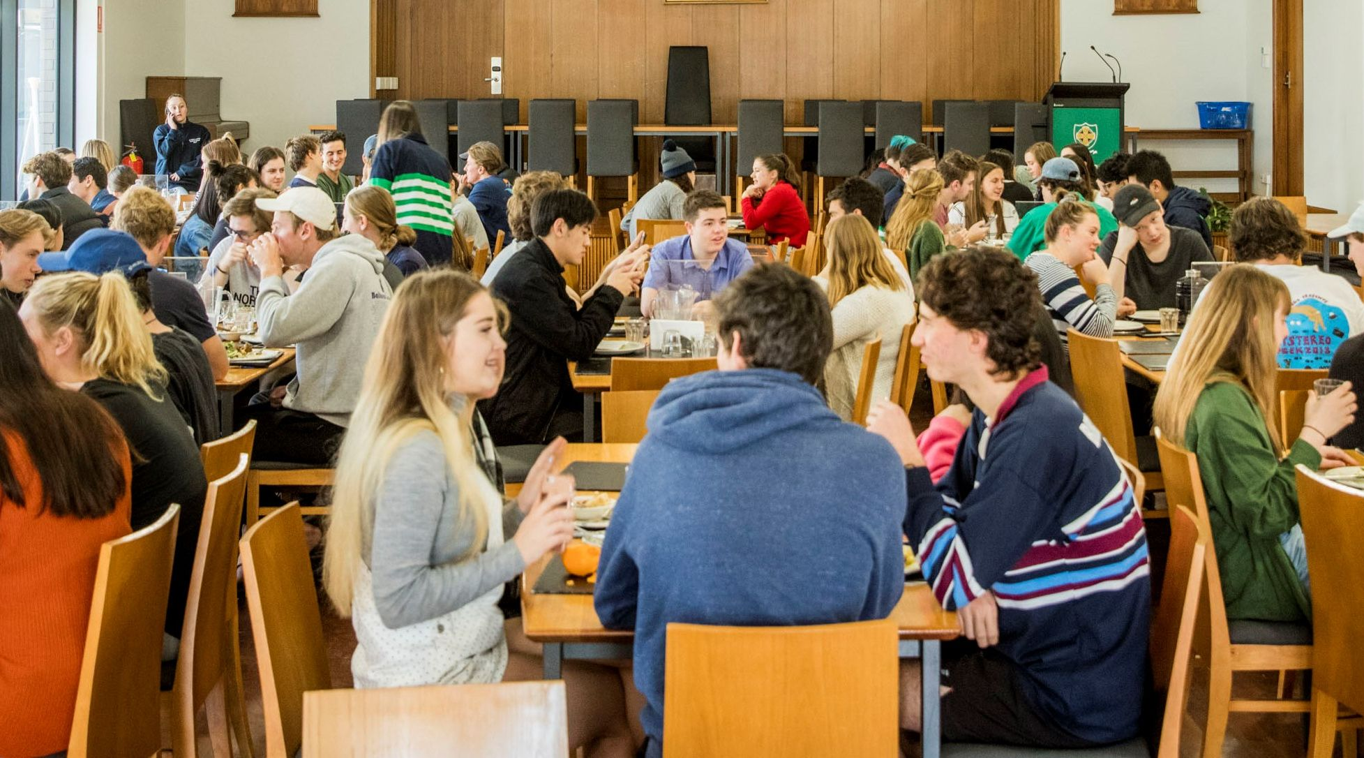 Students in dining hall 2