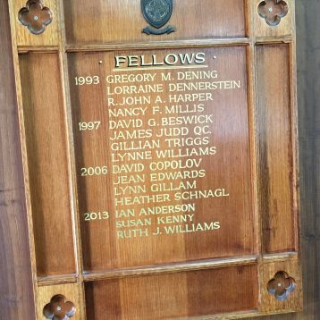 Fellows honour board