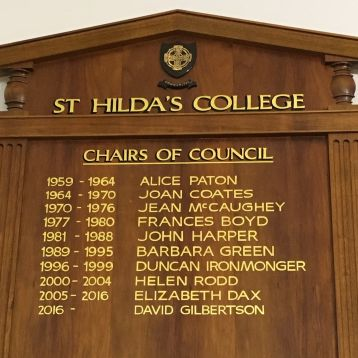 College Council honour board