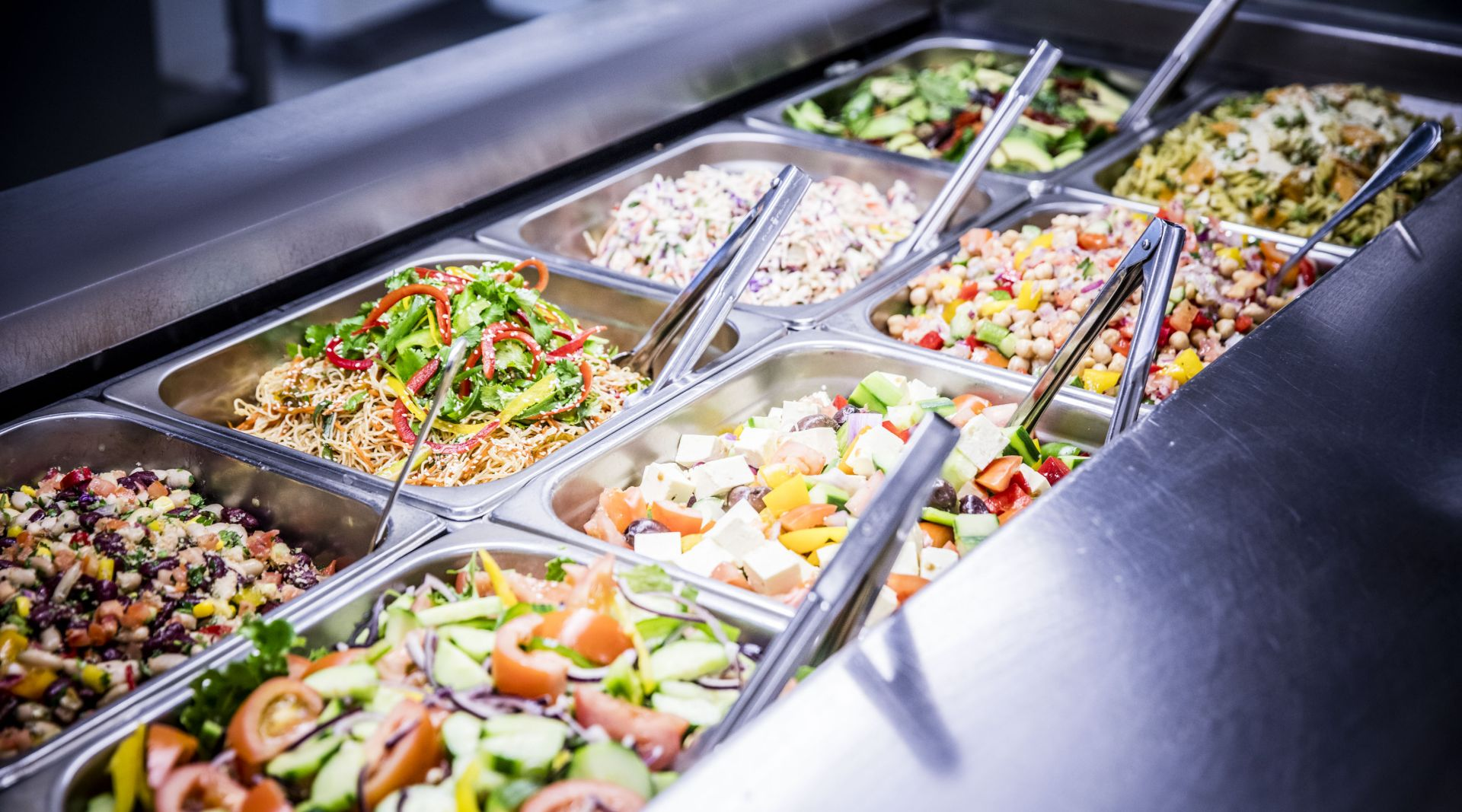Salad bar for student meals in the Dining Hall
