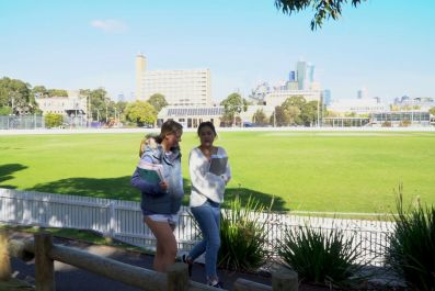Students at the University oval