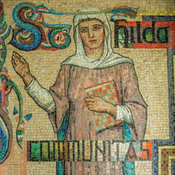St Hilda mosaic in the front foyer