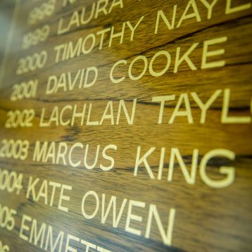 Honour board of student leaders