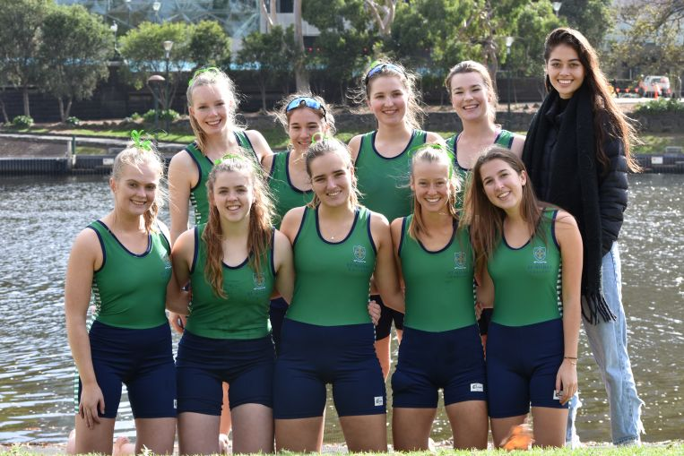 St Hilda's girls crew Residential College University of Melbourne